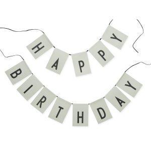 Design Letters Happy Birthday Liput Vihreä