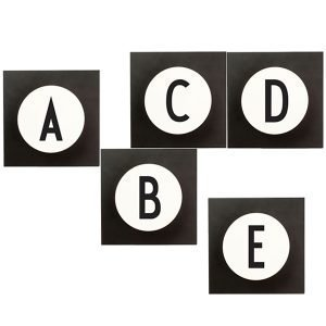 Design Letters Hook2 I Ripustin Musta / Valkoinen