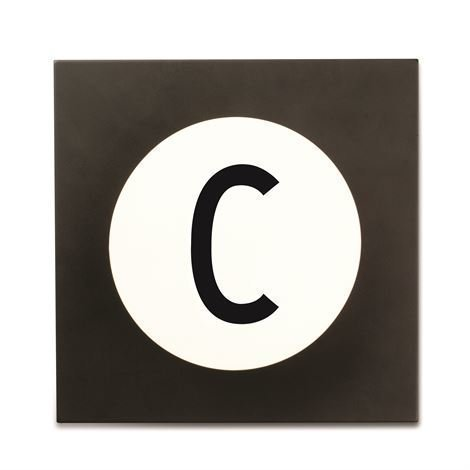 Design Letters Hook2 Kirjainkoukku C