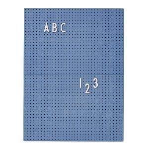 Design Letters Ilmoitustaulu A4 Blå
