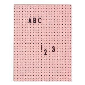 Design Letters Ilmoitustaulu A4 Roosa