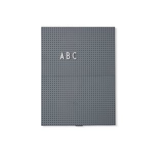 Design Letters Ilmoitustaulu A4 Tummanharmaa