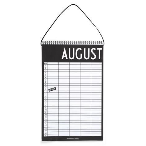 Design Letters Kuukausikalenteri 25x39 cm