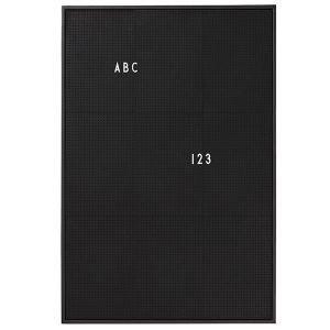 Design Letters Muistitaulu A2 Musta