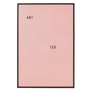 Design Letters Muistitaulu A2 Pinkki