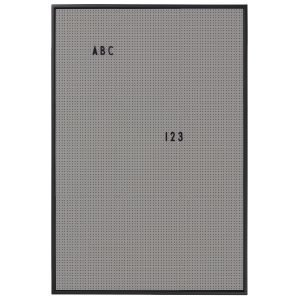Design Letters Muistitaulu A2 Tummanharmaa