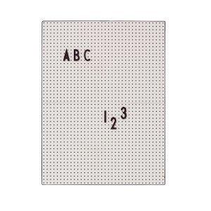 Design Letters Muistitaulu A4 Harmaa