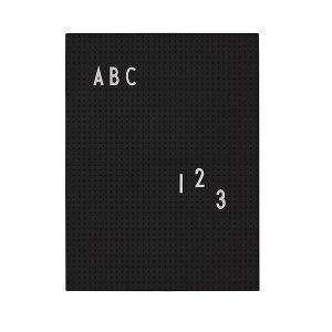Design Letters Muistitaulu A4 Musta