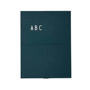 Design Letters Muistitaulu A4 Tummanvihreä
