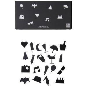Design Letters Muistitaulun Juhlakuviot Musta