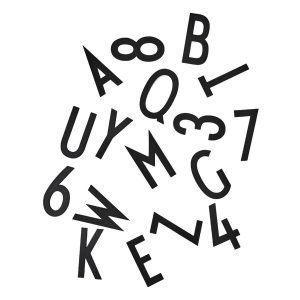 Design Letters Muistitaulun Kirjaimet Suuri Musta