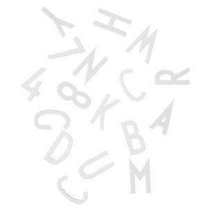 Design Letters Muistitaulun Kirjaimet Suuri Valkoinen
