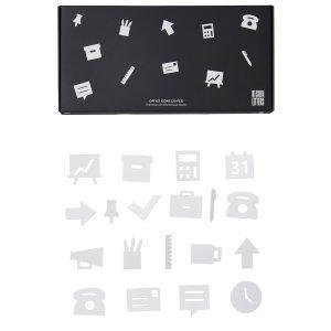 Design Letters Muistitaulun Toimistokuviot Valkoinen