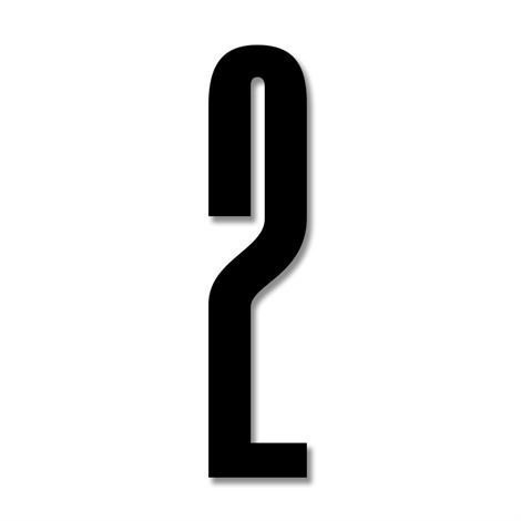 Design Letters Numerot Akryyli 2