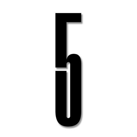 Design Letters Numerot Akryyli 5