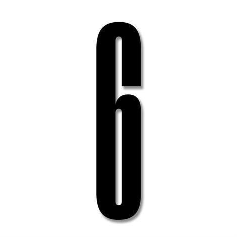 Design Letters Numerot Akryyli 6