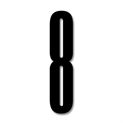 Design Letters Numerot Akryyli 8
