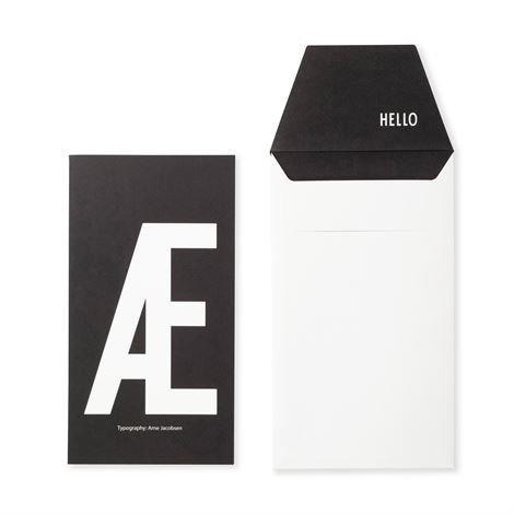 Design Letters Onnittelukortti Æ