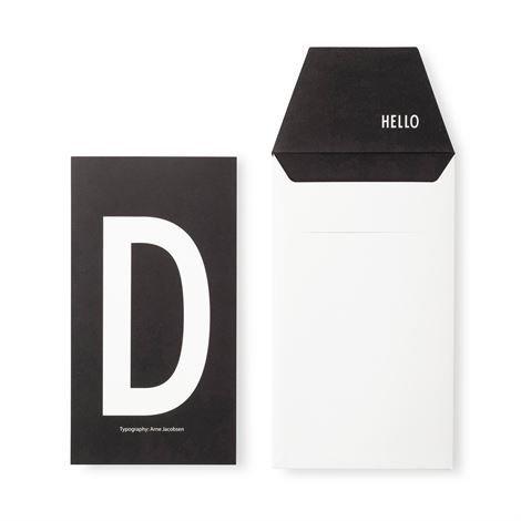 Design Letters Onnittelukortti D