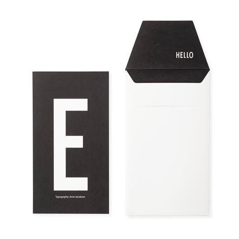Design Letters Onnittelukortti E