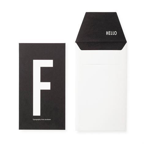 Design Letters Onnittelukortti F