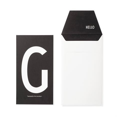 Design Letters Onnittelukortti G