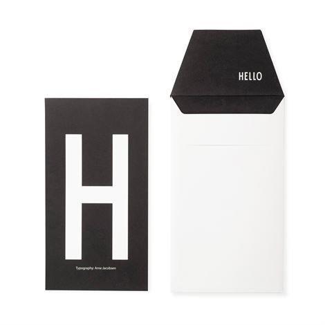 Design Letters Onnittelukortti H