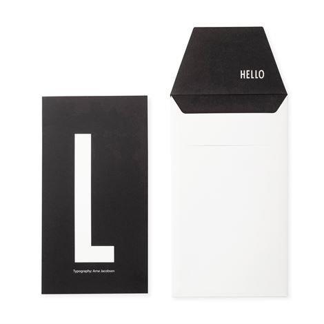 Design Letters Onnittelukortti L