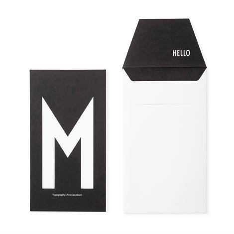 Design Letters Onnittelukortti M