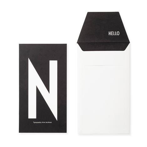 Design Letters Onnittelukortti N