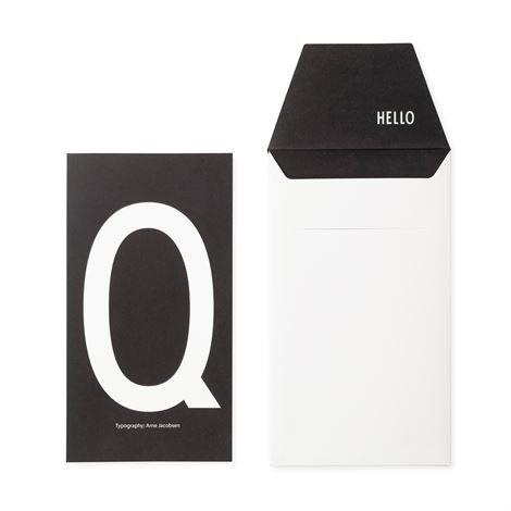 Design Letters Onnittelukortti Q