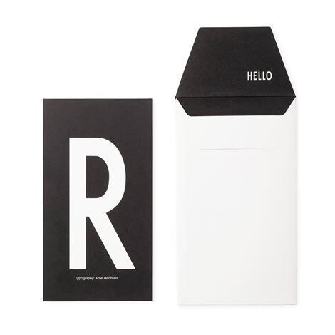 Design Letters Onnittelukortti R