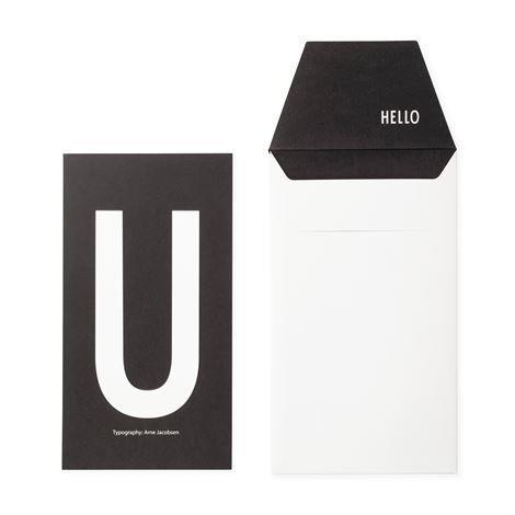 Design Letters Onnittelukortti U