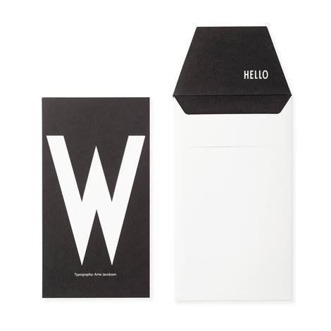 Design Letters Onnittelukortti W