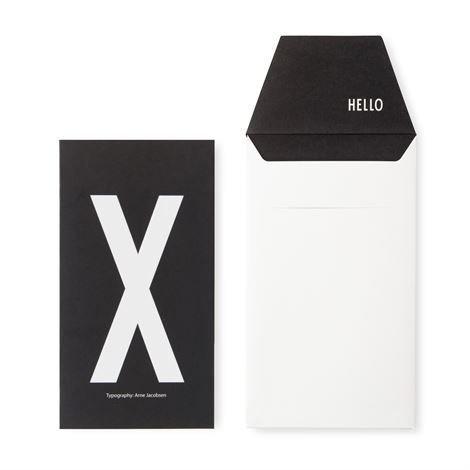 Design Letters Onnittelukortti X