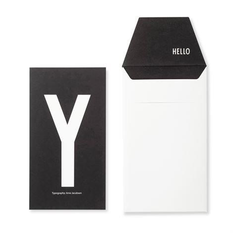 Design Letters Onnittelukortti Y