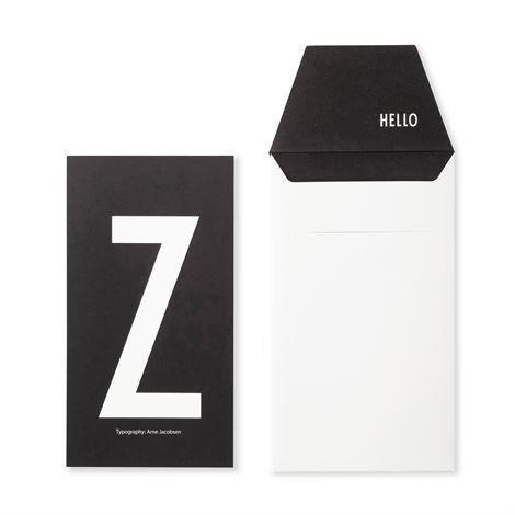 Design Letters Onnittelukortti Z