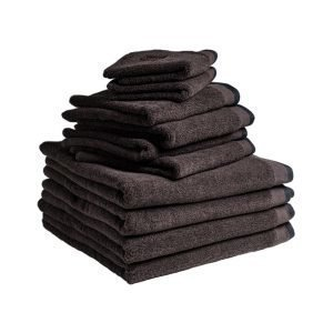Dirty Linen Eco Pyyheliina Dark Ash 30x50 Cm