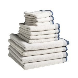 Dirty Linen Eco Pyyheliina Snow 30x50 Cm