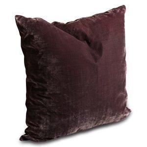 Dirty Linen Plain Deco Pillow Case Blue Violet 60x60 Cm