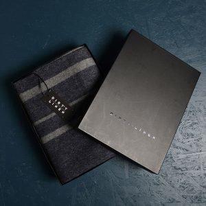 Dirty Linen Strip Huopa Grey / Navy 150x260 Cm
