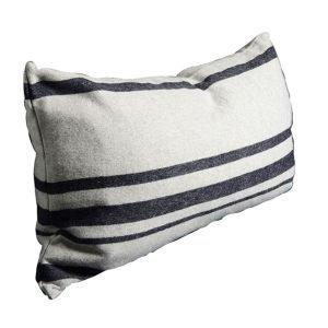 Dirty Linen Strip Tyynynpäällinen Off White / Navy 50x90 Cm
