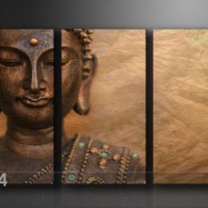 Ed Kolmeosainen Seinätaulu Buddha