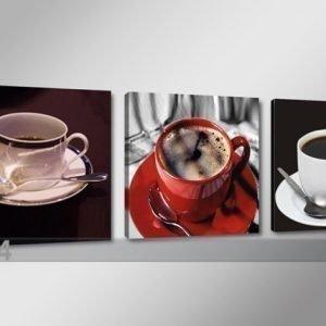 Ed Kolmeosainen Seinätaulu Kahvi