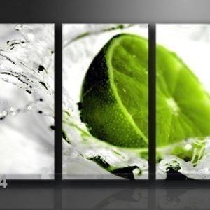 Ed Kolmeosainen Seinätaulu Lime