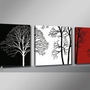 Ed Kolmeosainen Seinätaulu Puut