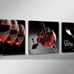 Ed Kolmeosainen Seinätaulu Viini