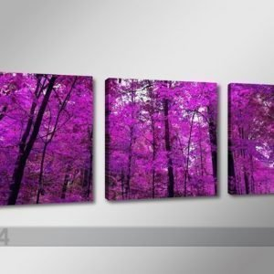 Ed Kolmeosainen Seinätaulu Violetti MetsÄ