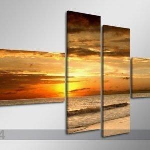 Ed Neliosainen Seinätaulu Auringon Lasku 160x70 Cm