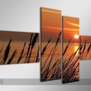 Ed Neliosainen Seinätaulu Auringonlasku